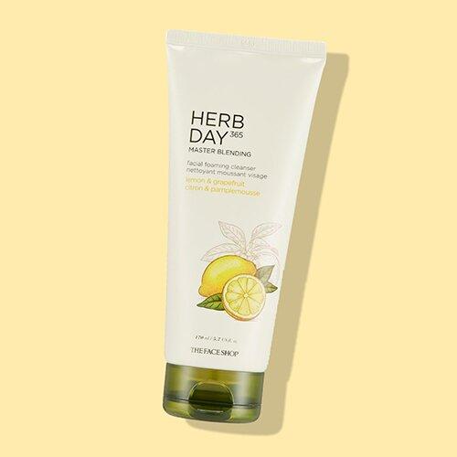 sua-rua-mat-the-face-shop-herb-day-365-master-blending-facial-foaming-cleanser-lemon-grapefruit