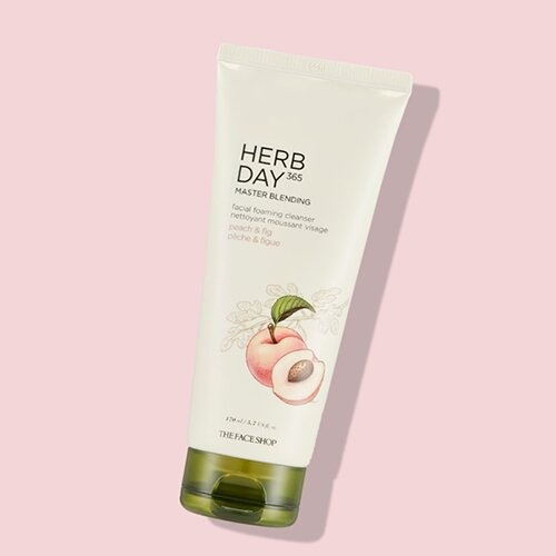 sua-rua-mat-the-face-shop-herb-day-365-master-blending-facial-foaming-cleanser-peach-fig