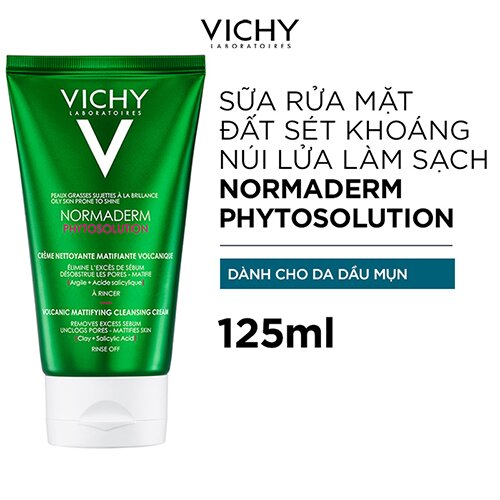 sua-rua-mat-vichy-normaderm-phytosolution-volcanic-mattifying-cleansing-cream
