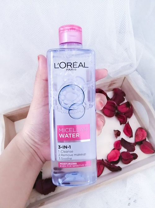 review-danh-gia-nuoc-tay-trang-loreal-mau-hong-loreal-paris-micellar-water-moisturizing