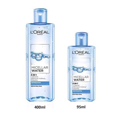review-nuoc-tay-trang-loreal-mau-xanh-duong-nhat-loreal-paris-micellar-water-refreshing