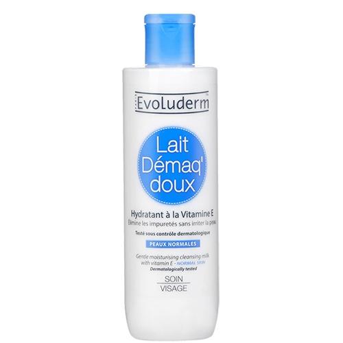 sua-tay-trang-evoluderm-lait-demaq-doux-mau-xanh-duong-gentle-moisturizing-cleansing-milk